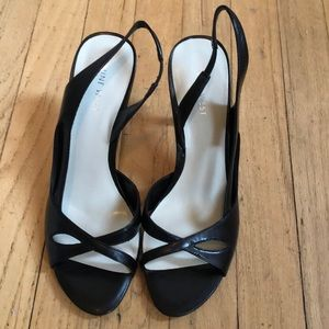 New in box!  Nine West Argent Black leather 8M